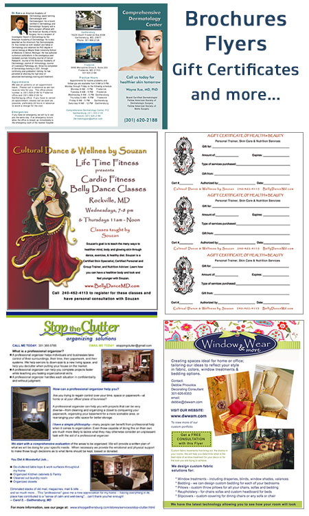 custom brochures and more